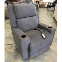 ID:231006 Power wall recliner w/ power headrest in grey fabric