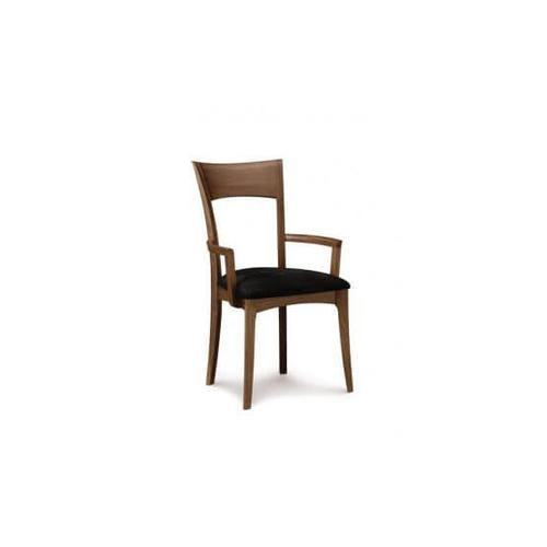 INGRID ARMCHAIR WITH UPHOLSTERED SEAT IN WALNUT