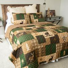 Green Forest King Quilt Set