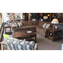 Monroe two-piece sectional. $2,349 with matching swivel chair.