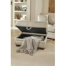 Farmington Storage Ottoman in Buff Fabric