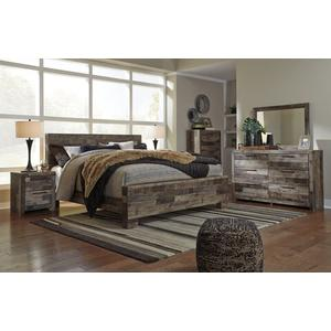 Derekson Qn Bed, Dresser, Mirror and Nightstand