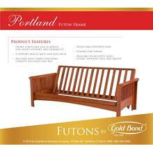 See Details - Portland Futon - Box A (arms) and Box B (frame)