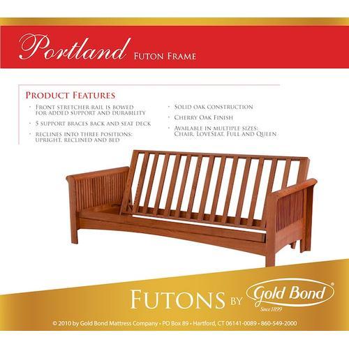 Gold Bond Mattress Company - Portland Futon - Box A (arms) and Box B (frame)