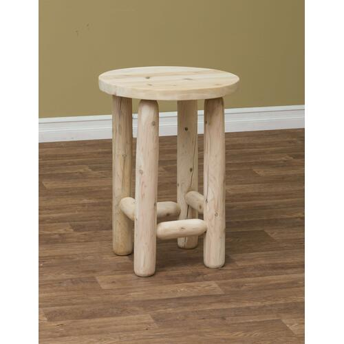 """Rustic Countryside Log Furniture - 20"""" Round Adirondack End Table"""