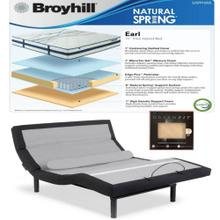 Leggett & Platt Prodigy Comfort Elite Adjustable Bed, Broyhill Earl Cushion Firm Mattress, and set of Dreamfit Sheets