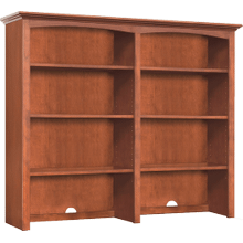 "48"" Wide Hutch - Glazed Antique Cherry Finish"