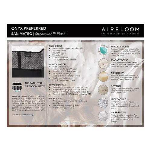 Aireloom - San Mateo Streamline Luxury Plush Mattress