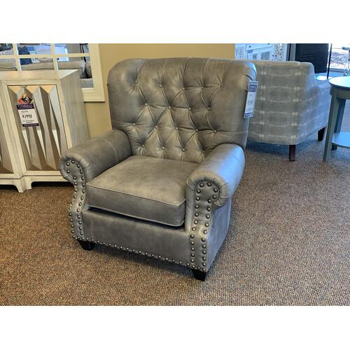Native By Mayo - Bermuda Glacier Leather Arm Chair