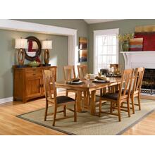 Cattail Bungalow Dining 7 Piece in Amber