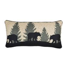 "Bear Walk Plaid ""Rectangle"" Throw Pillow"