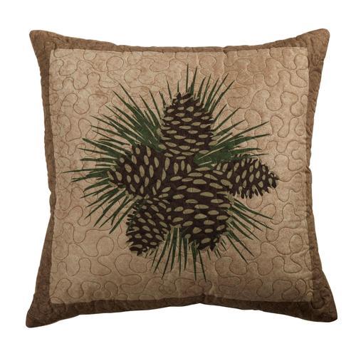 Antique Pine Throw Pillow