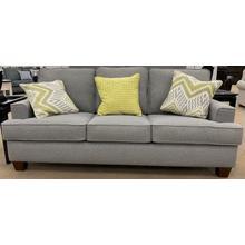 Wood House Sofa - Bayside Grey - 2 Pillows Longshore Moonstone/1 Pillow Sand Dollar Margarita
