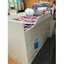 Ashley Kids White Loft storage bed w/o matt