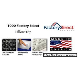 Factory Direct Mattress - 1000 Factory Select - Pillow Top