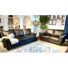 See Details - Italian Leather Sofa & Loveseat