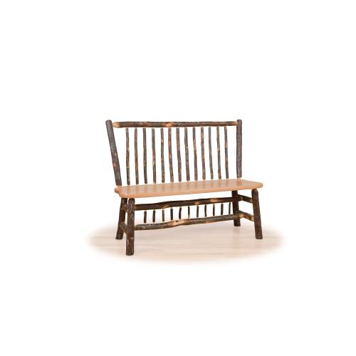 Hickory Stick Back Deacon Bench