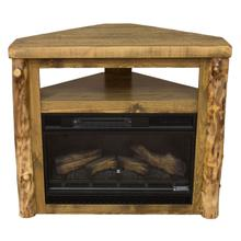 Aspen Rough Sawn Pine Corner Fireplace