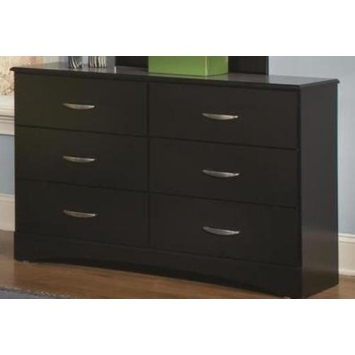 Jacob Collection Dresser in Stipple Black Finish