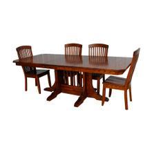 Mission Double Pedestal Table Set