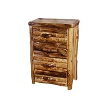 4 Drawer Chest Log Front Wild Panel Natural Log