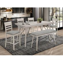 Crown Mark 2832 White Sands Counter Height Dining Group