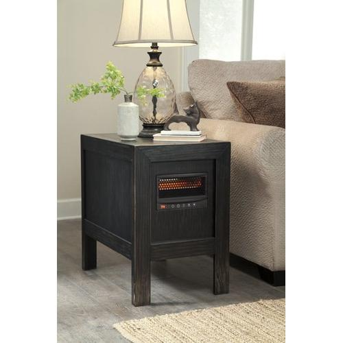 Chair Side End Table w/Heater