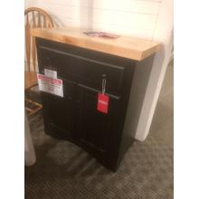 See Details - Antique Black/Pine Top Cabinet Model# 75301