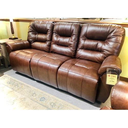 Best Home Furnishings - UNITY LEATHER SpaceSaver Reclining Sofa in Birch    (S730CA4-71956-L,29107)
