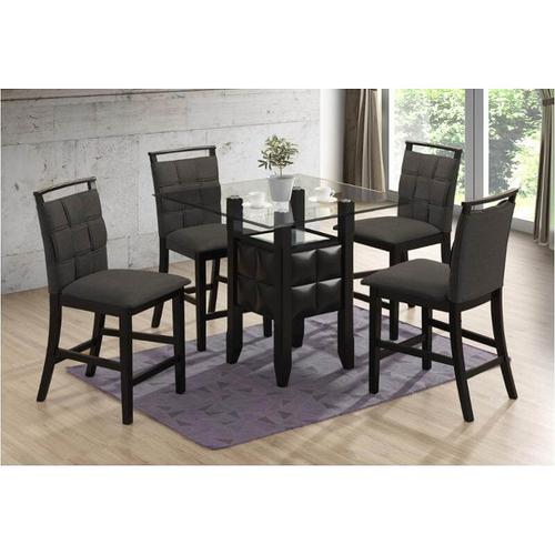 New Classic Furniture - D4040 - 5PC. Glass Dining Table