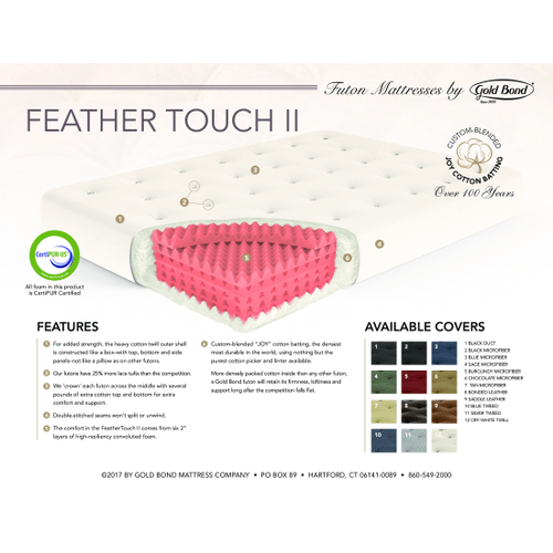 """Gallery - 9"""" Feather-Touch Full futon mattress"""