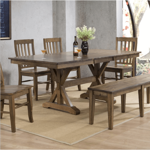 Winners Only - 6 Piece Set (Trestle Table, 4 Chairs and Bench)