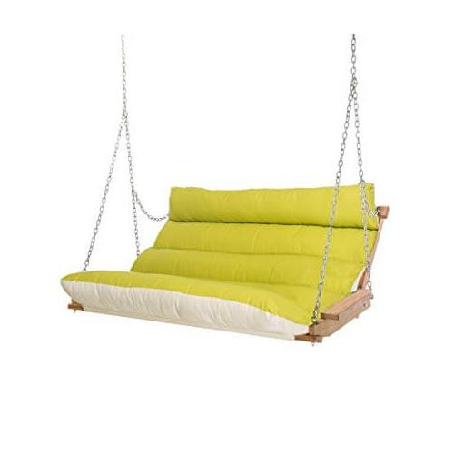 Product Image - Deluxe Cushion Double Swing Made with Sunbrella - Echo Limelight