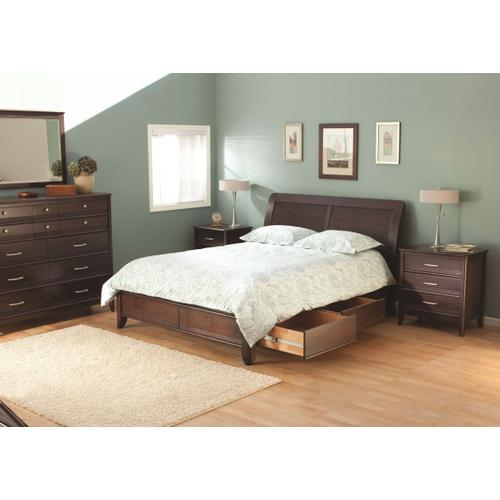 CAF Pacific CalKing Storage Bed Caffe Finish