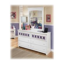 View Product - Zayley - White Collection: Dresser & Mirror