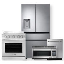 """See Details - DACOR 36"""" Counter Depth French Door Bottom Freezer & 30"""" Gas Range- 4 Piece Package"""