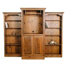 Large Entertainment Center with Pocket Doors