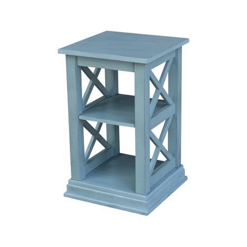 Hampton Accent Table in Ocean Blue