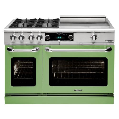 "Capital - Connoisseurian 48"" Dual Fuel Self Clean Range (Pale Green)"