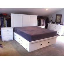 Shaker King Size Double High Chestbed with Flat Headboard and Night Stands