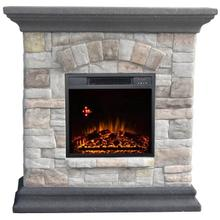 WORLDHEATER QSF8208R Westgate Granite Style Mantel with IR Quartz Electric Fireplace