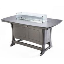 See Details - Classic Counter Height Fire Table