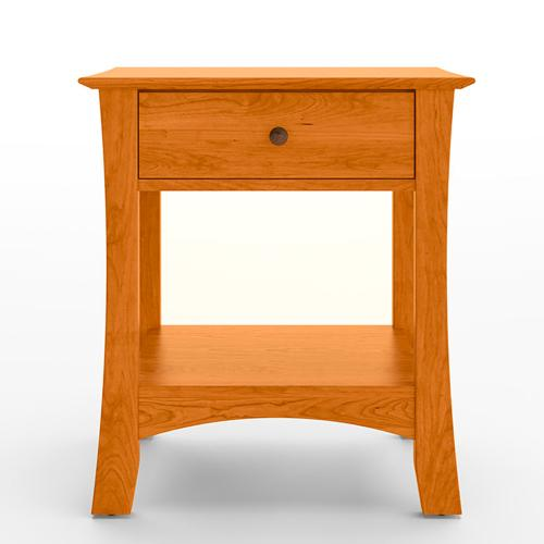 Armstrong Solid Natural Cherry 1 Drawer Open Nightstand