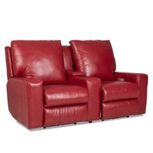 Alliser Leather Reclining Console Loveseat