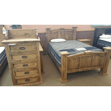 Queen Bed and 5 Drawer Chest