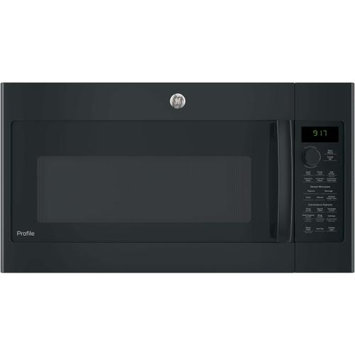 GE Profile 1.7CF Black Convection Over the Range Microwave
