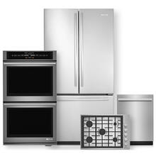 """See Details - JENNAIR 72 Counter Depth French Door Refrigerator & 30"""" Double Wall Oven 4 Pc Package- Minor Case Imperfections"""