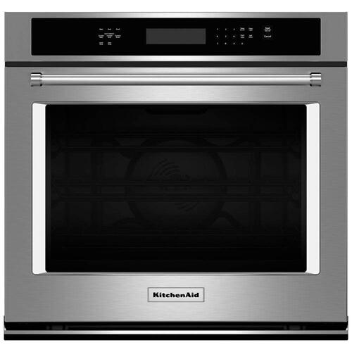 Kitchenaid 5.0CF Stainless Steel Sing Wall Convection Oven with Self Clean