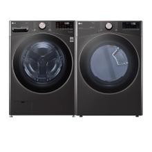 LG Black Steel Front Load Laundry Set (WM4000HBA & DLEX4000B)