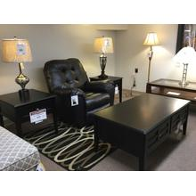 "Ashley ""Henning"" Almost Black Finish T479 3 Pc. Living Room Set (End Table, Chairside Table, Cocktail Table)"